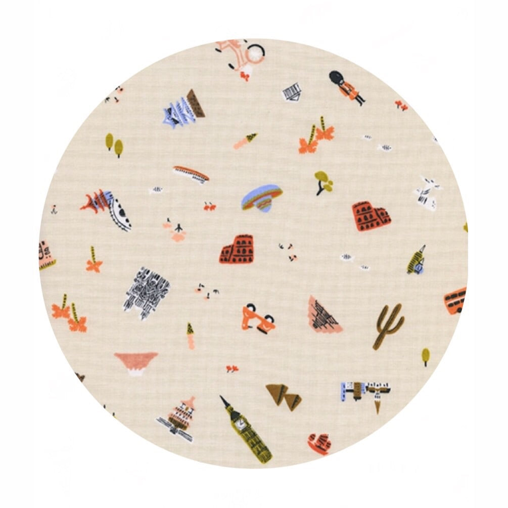 Explorer Natural - Amalfi by Rifle Paper Co. - Cotton + Steel Fabrics