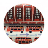 1.5 meters left! - Double Decker in Red - From London with Love Collection - Camelot Fabrics