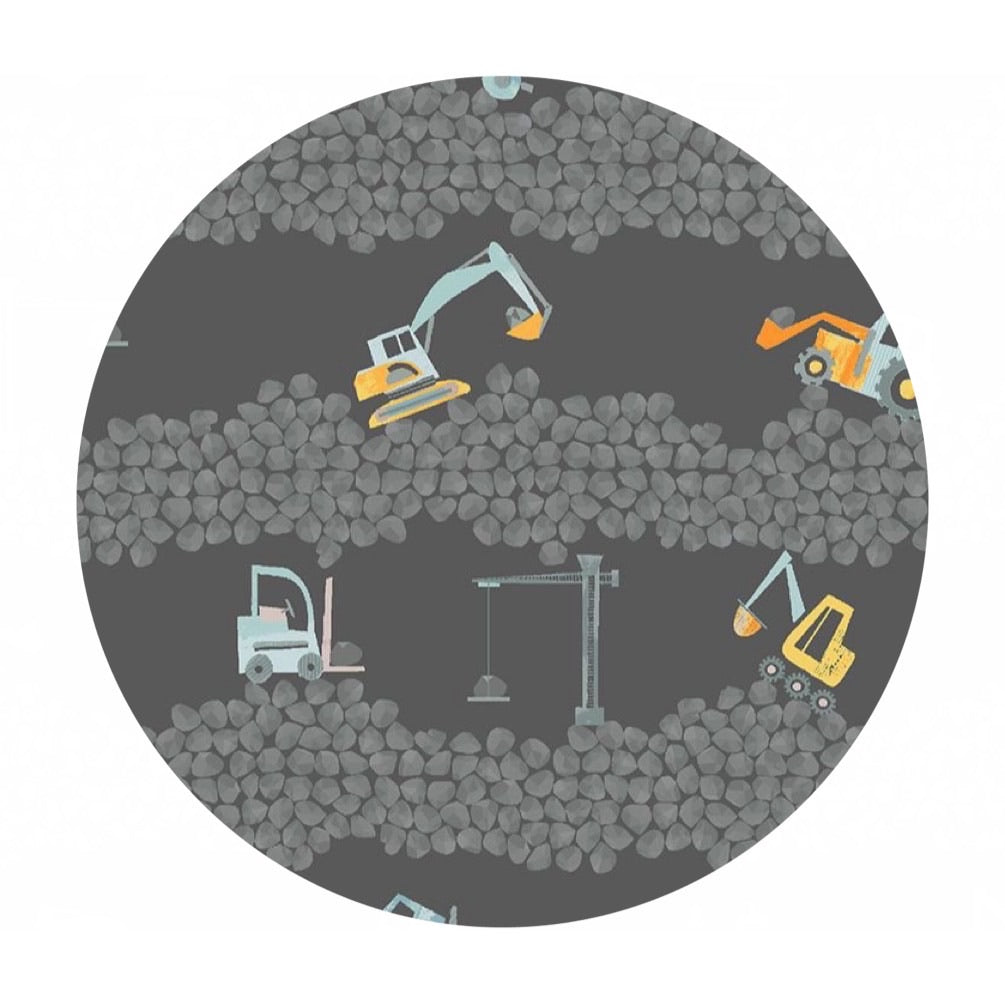 Excavators in Caviar - Raise the Roof Collection - Dear Stella Fabrics
