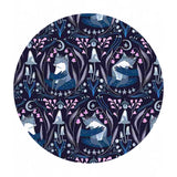 4 meters left! - Foxes in Indigo - Lantern Light Collection - Dear Stella Fabrics