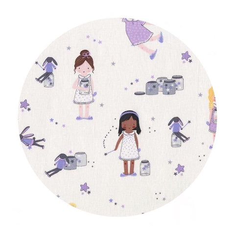 Sprinkle, Sprinkle Little Stars in Purple - Twinkle Fairies Collection - Michael Miller Fabrics