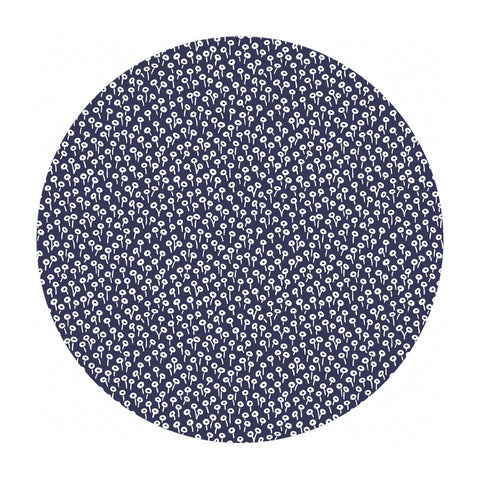 Tapestry Dot in Navy Cotton - Basics by Rifle Paper Co. - Cotton + Steel Fabrics