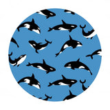 Orcas in Blue - Northwest Collection - Riley Blake Designs