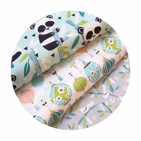 1 bundle left! - 3 Piece Half Meter Bundle - Panda-rama Collection - Blend Fabrics