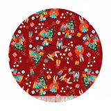 Pre-order (shipping in Aug) - Marshmallow Morning in Red -  A Winter's Tail Collection - Blend Fabrics