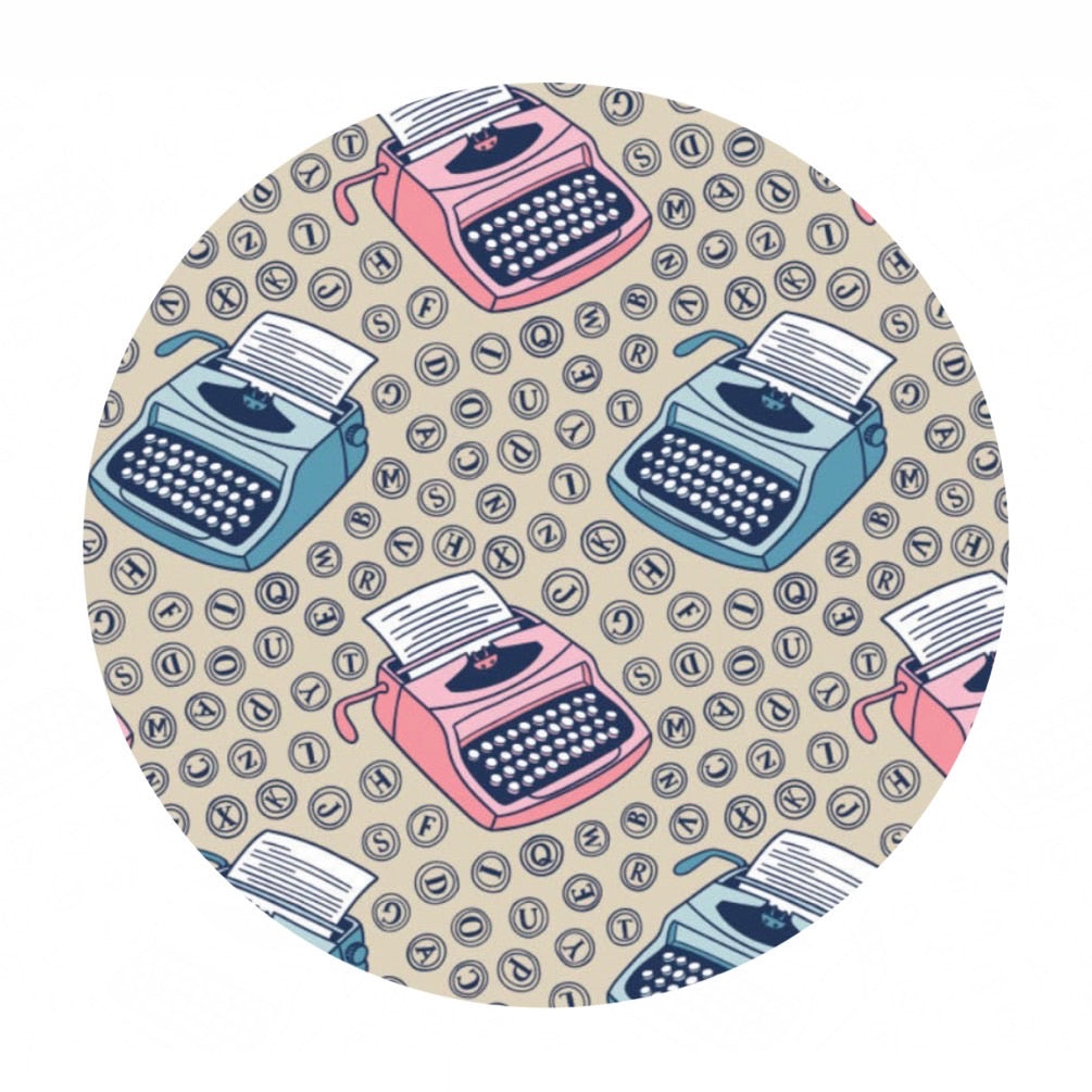 Typewriters in Cream - Literary Collection - Camelot Fabrics