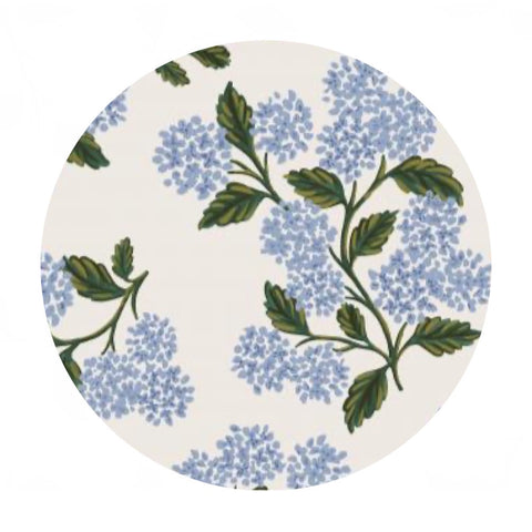 Hydrangea in Blue Cotton - Meadow by Rifle Paper Co. - Cotton + Steel Fabrics