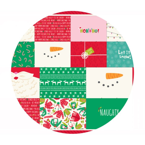 Safety First Holiday Face Mask Panel - Stacy Iest Hsu - Moda Fabrics