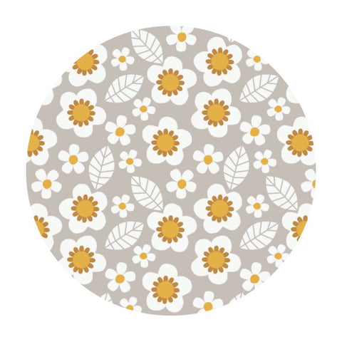 Flowers in Light Gray - Mama & Me Collection - Camelot Fabrics