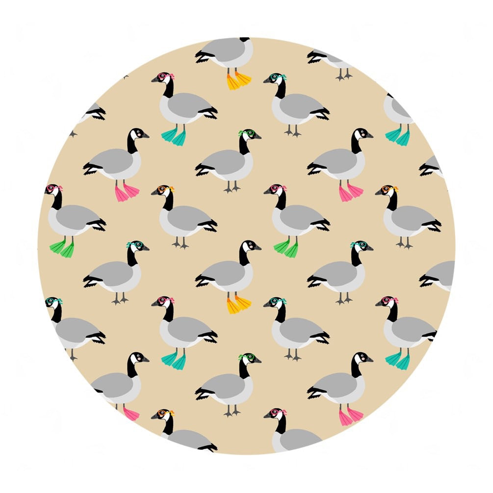 4 meters left! - Canadian Geese in Cotton - Purely Canadian Eh! Summer BBQ Collection - Robert Kaufman Fabrics