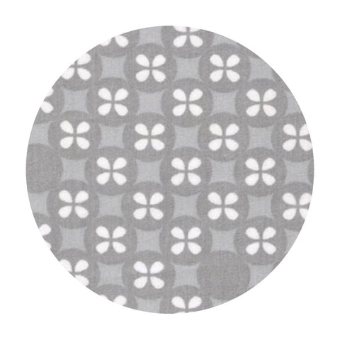 .5 meters left! - Flower Dot Double Gauze in Gray - Little Prints Double Gauze - Robert Kaufman Fabrics