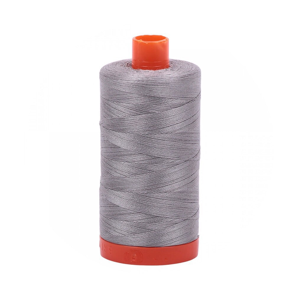 Aurifil Thread - 50wt Large Spool - Stainless Steel 2620