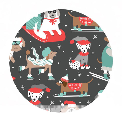 Pre-order (shipping in Aug) - Winter Furries in Gray - Snowlandia Collection - Blend Fabrics