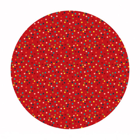4 meters left! - Light It Up in Red -  A Winter's Tail Collection - Blend Fabrics