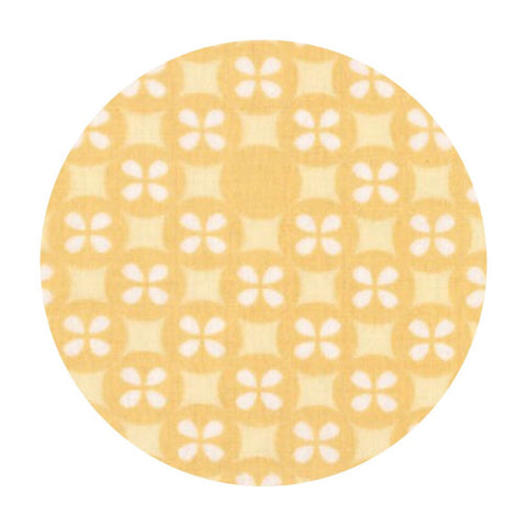 .5 meters left! - Flower Dot Double Gauze in Yellow - Little Prints Double Gauze - Robert Kaufman Fabrics