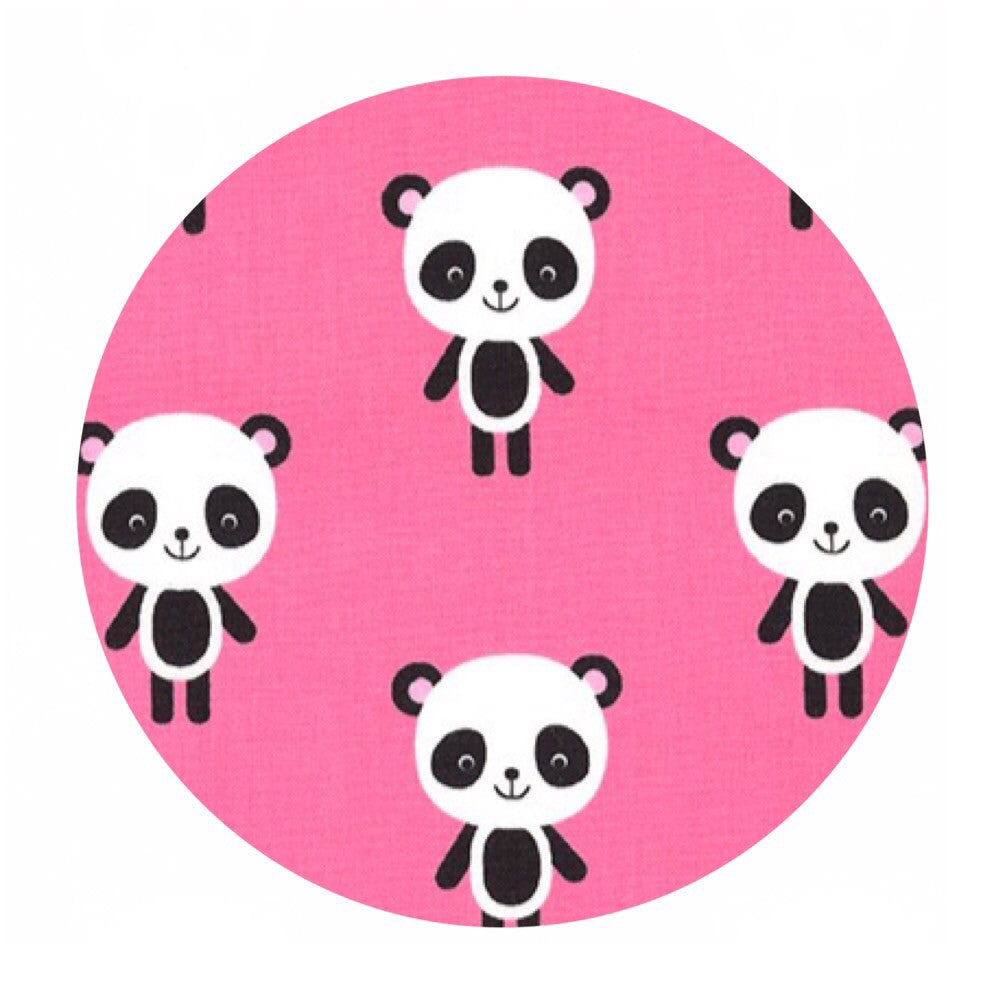 Pandas in Pink - Urban Zoologie Collection- Robert Kaufman Fabrics