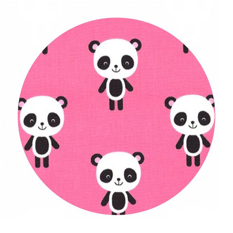 2 meters left! - Pandas in Pink - Urban Zoologie Collection- Robert Kaufman Fabrics
