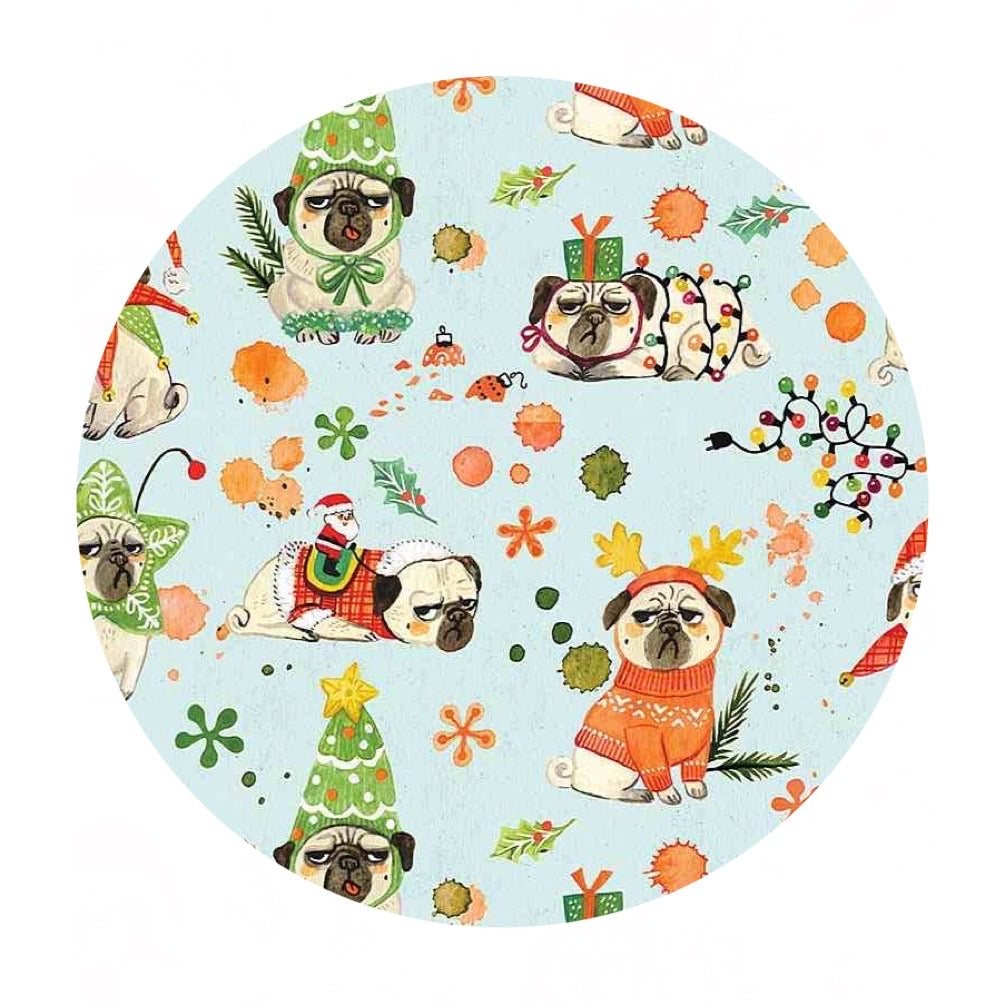 Re-stock! Bah Hum-Pug - Bah Hum-Pug Collection - Dear Stella Fabrics