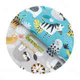 Safari Adventure in Gray - Funanimals Collection - Blend Fabrics