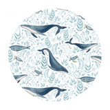 Whale of a Time in White - Hooked on a Feeling Collection - Dear Stella Fabrics