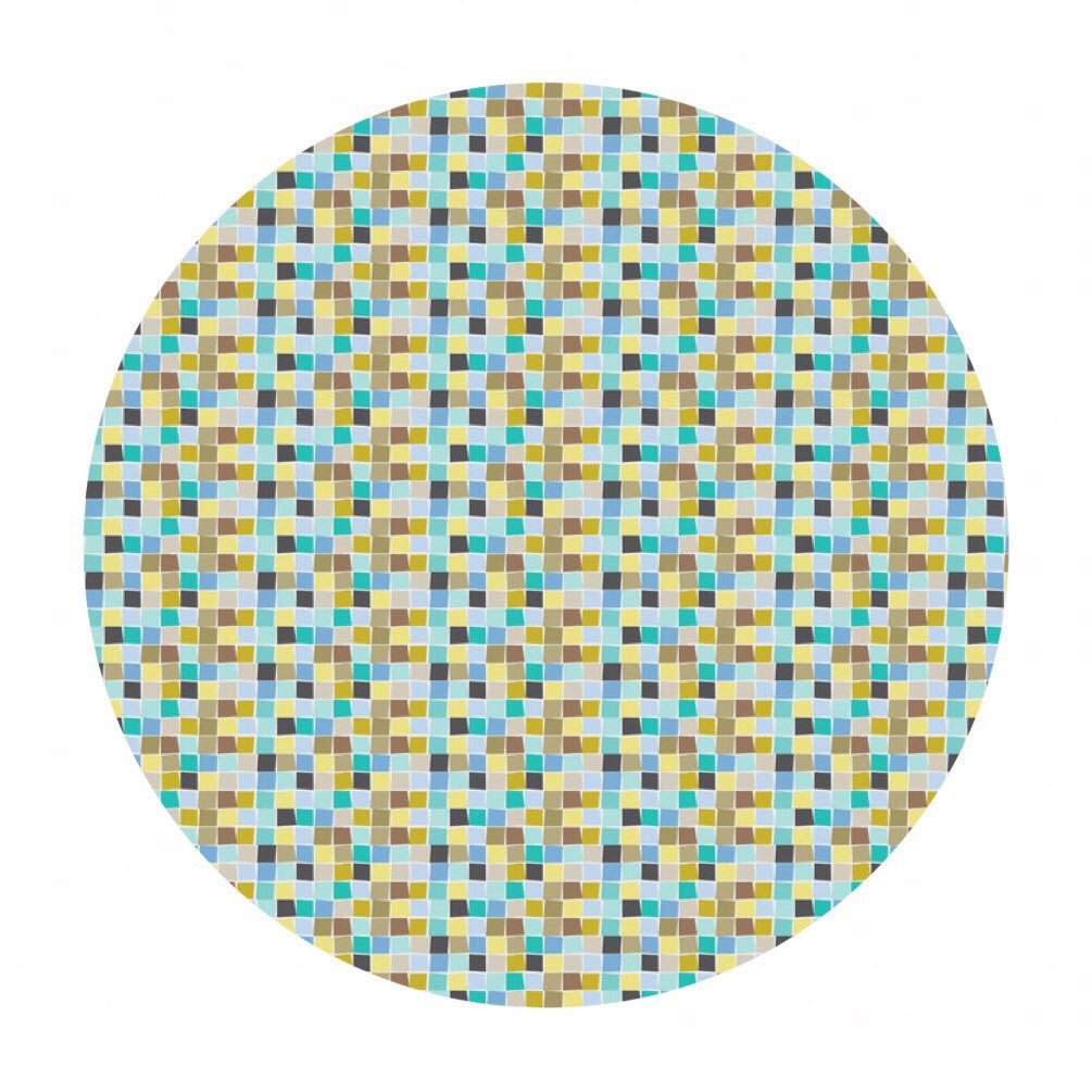 1 meter left! - Mosaic Blue - Born Wild Collection - Blend Fabrics