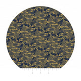 1 meter left! - Waves in Navy Gold Metallic - Mystic Cranes Collection - Camelot Fabrics
