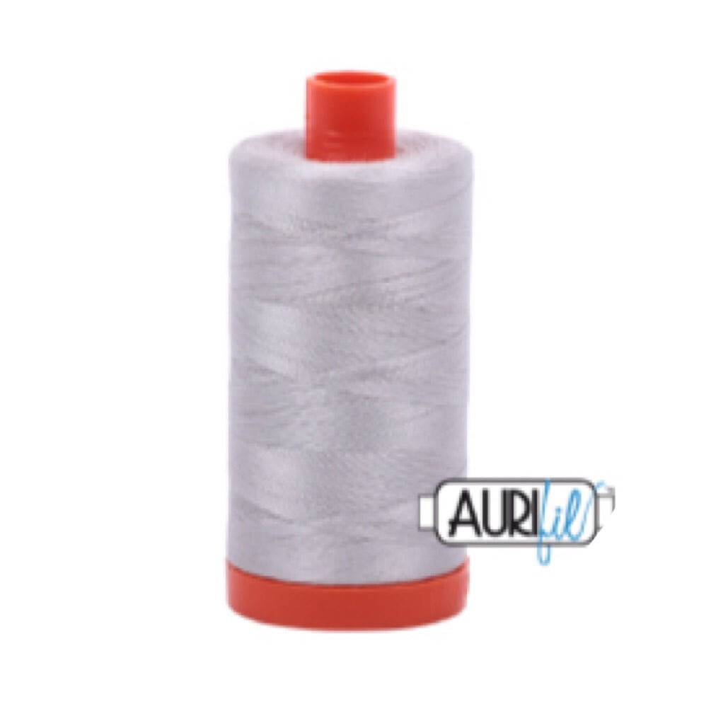 Aurifil Thread - 50wt Large Spool - Aluminium 2615