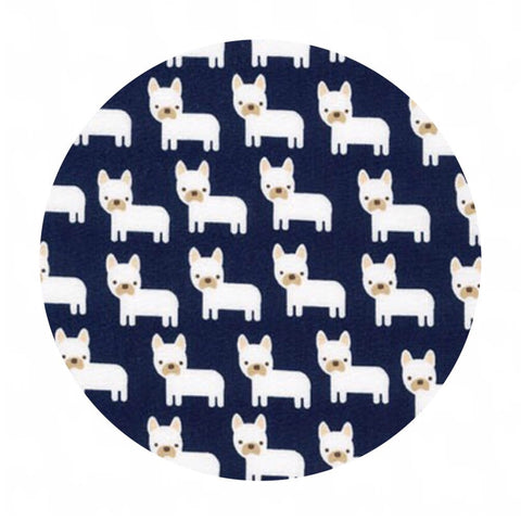 Mini Dogs in Navy - Urban Zoologie Minis Collection- Robert Kaufman Fabrics