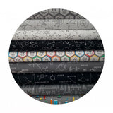 .5 meters left! - Lab in Gray - Science Fair Collection- Robert Kaufman Fabrics