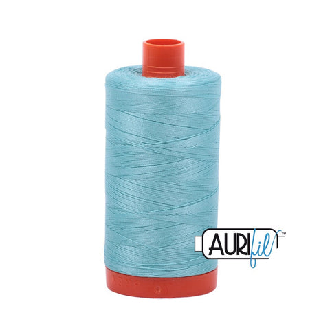 Aurifil Thread - 50wt Large Spool - Light Turquoise 5006