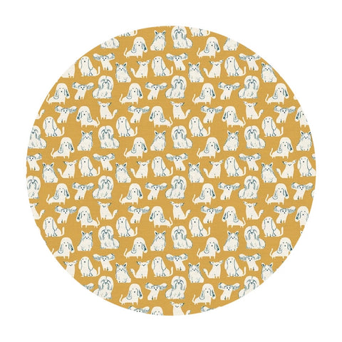 Dog Breeds in Yellow - Best in Show Collection - Paintbrush Studio Fabrics