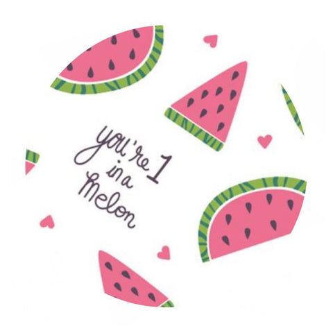 4 meters left! - You're 1 in a Melon - Very Punny Collection - Camelot Fabrics