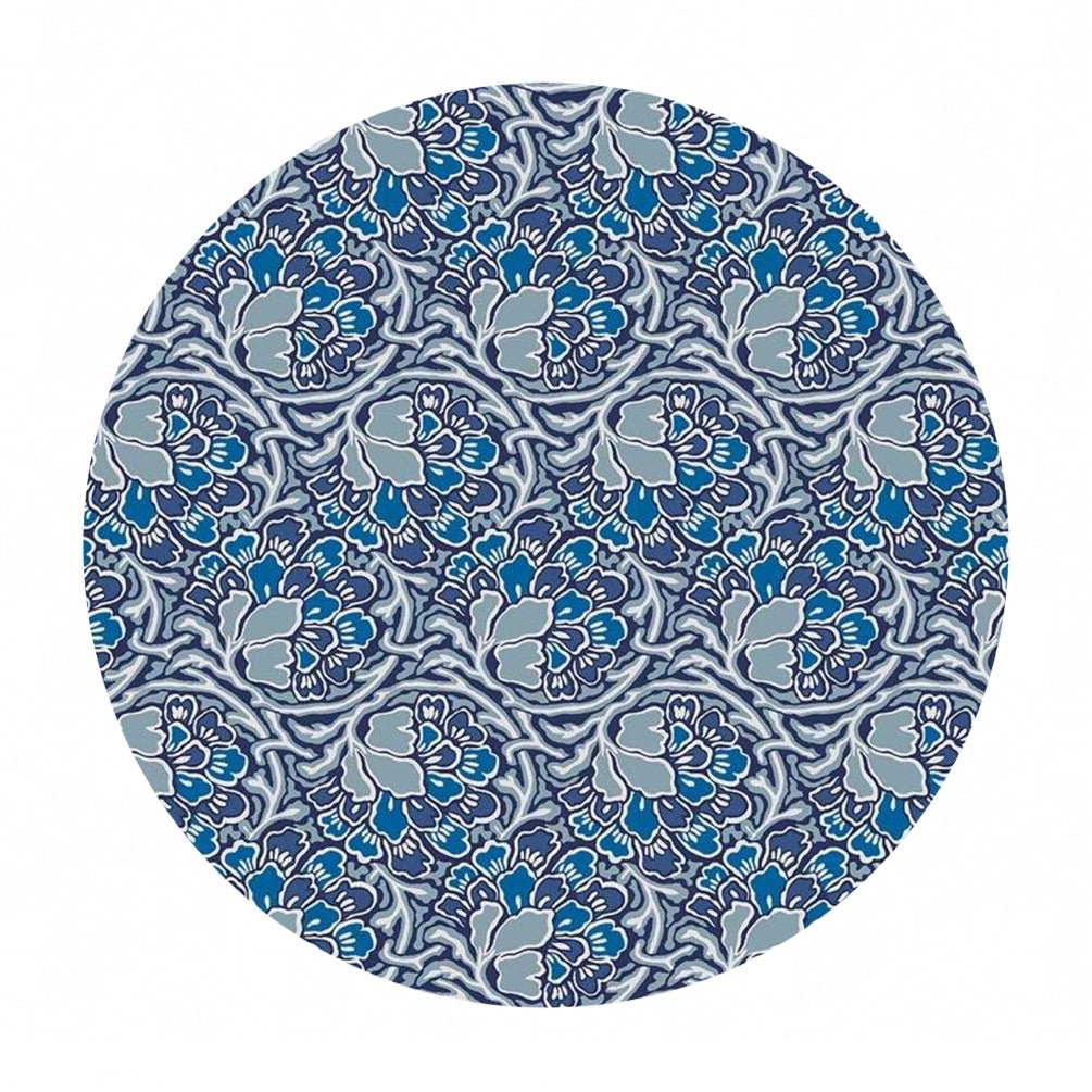 2.5 meters left! - Dianthus Dreams in Blue - The Hesketh House Collection - Liberty Fabrics