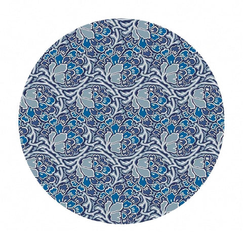 3 meters left! - Dianthus Dreams in Blue - The Hesketh House Collection - Liberty Fabrics