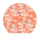 Scattered Florals in Orange - Black Swan Collection - Camelot Fabrics