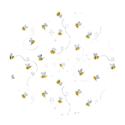 Busy Bees in White - Meant to Bee Collection - Dear Stella Fabrics