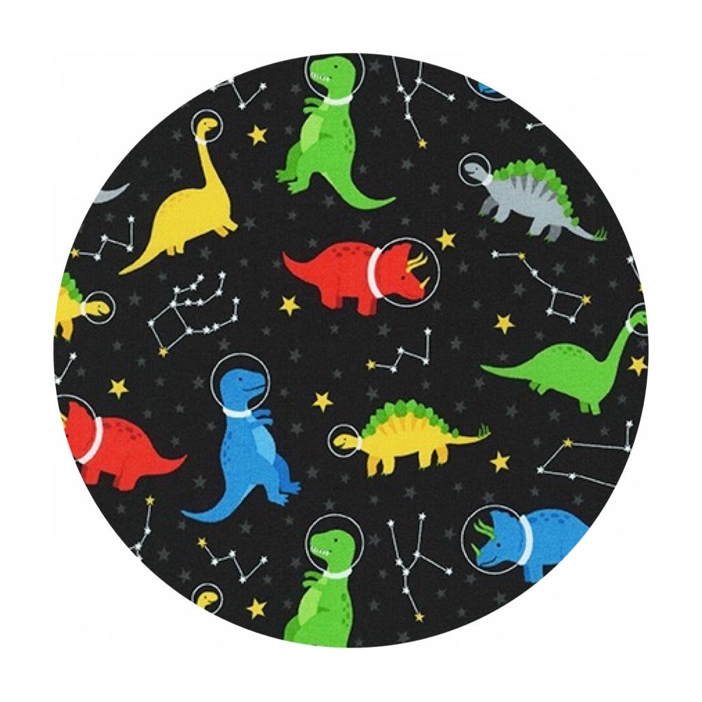 Space Dinosaurs in Stratosphere - Dino-Soar Collection - Robert Kaufman Fabrics