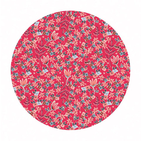 Garden of Dreams Rouge in Knit - Charleston Collection - Art Gallery Fabrics