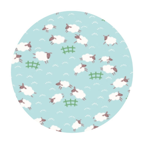 2.5 meters left! - Sheep Frolic in Misty - Fifty Shades of Hay - Dear Stella Fabrics