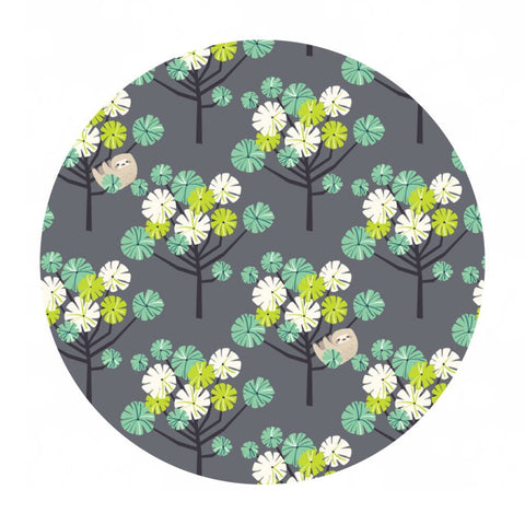 Pre-order! (Shipping in May) - Tree Dwellers in Green - Rainforest Slumber Collection - Blend Fabrics