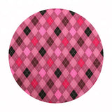 2.5 meters left! - Argyle in Pink - Classy Canines Collection - Robert Kaufman Fabrics