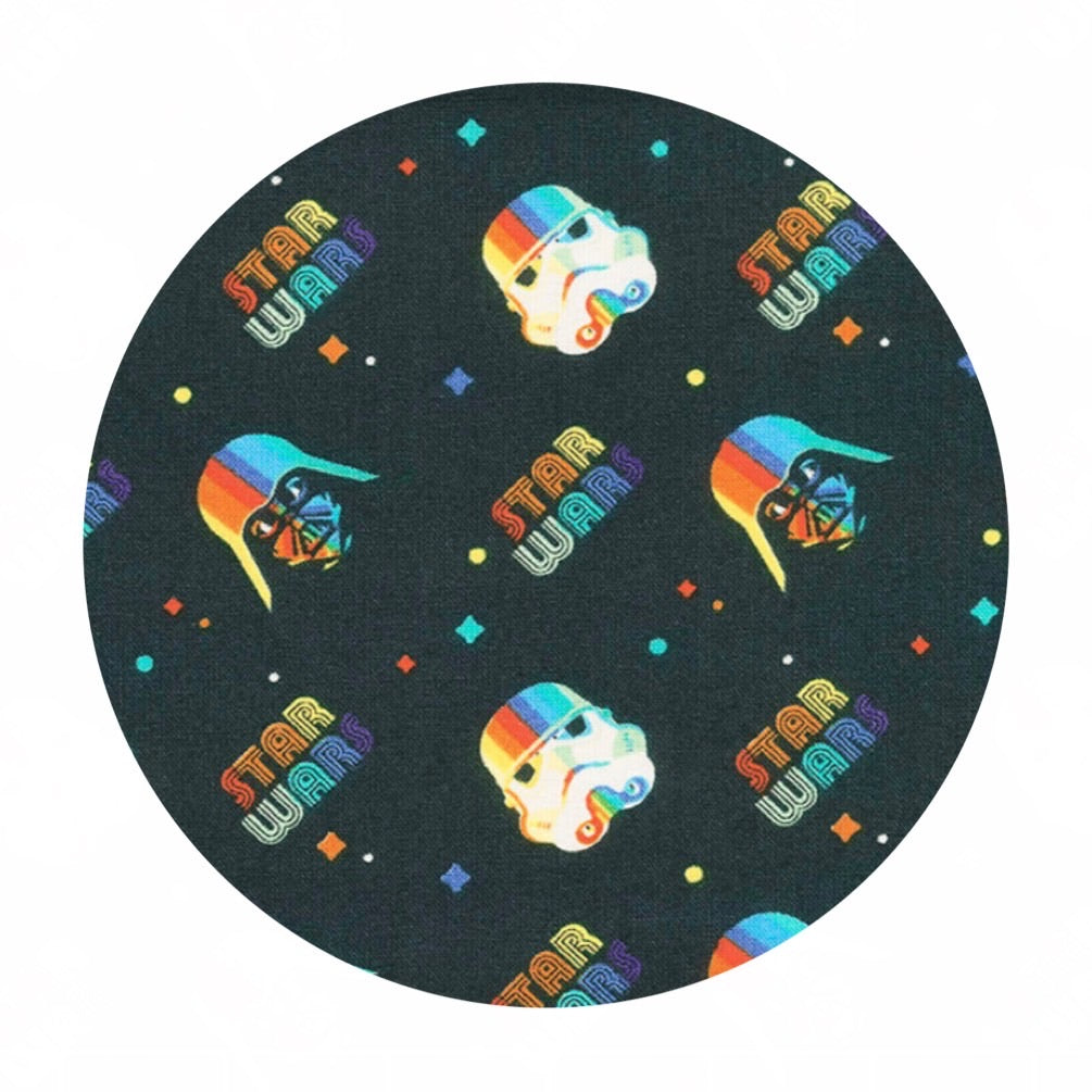 .5 meters left! - Rainbow Empire Helmets - Star Wars Collection - Camelot Fabrics