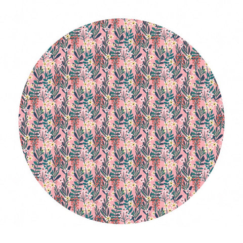 2 meters left! - Hanna in Pale Pink - Floral Pets Collection - Blend Fabrics
