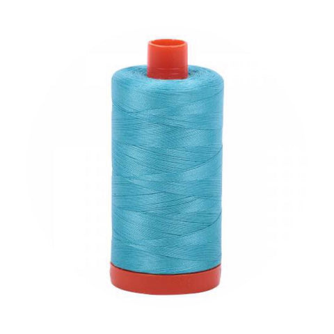 Aurifil Thread - 50wt Large Spool - Bright Turquoise 5005