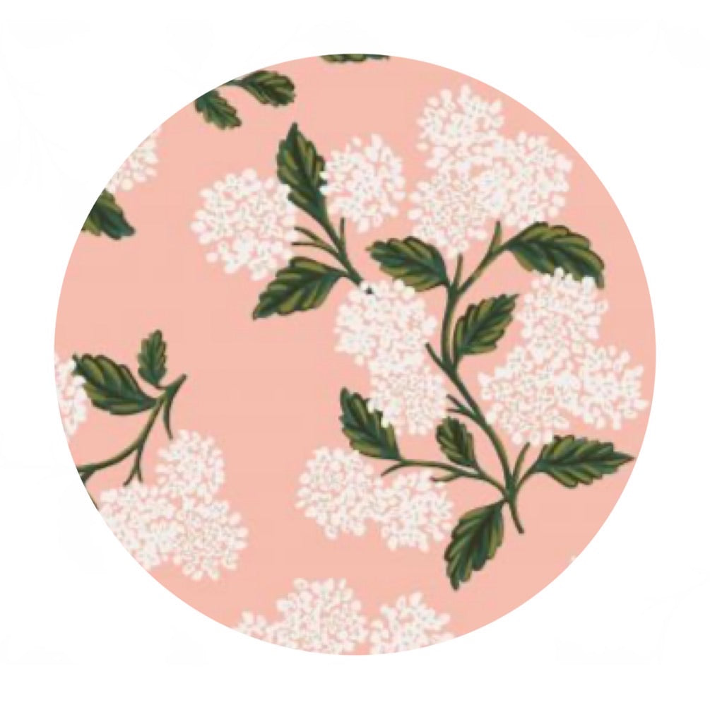 Re-stock! - Hydrangea in Blush Cotton - Meadow by Rifle Paper Co. - Cotton + Steel Fabrics