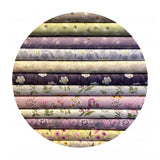 2 meters left! - Garden Floral on Warm Lilac - Botanic Garden Collection - Lewis & Irene Fabrics