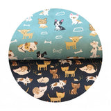 Woof Woof Meow in Navy - Woof Woof Meow Collection - Moda Fabrics