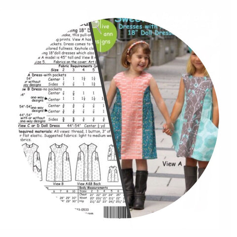 Girl and Doll Sewing Patterns - Online Sewing Patterns Canada - Olive Ann Designs