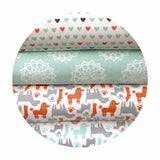 50% Defect discount! Hearts Flannel in White - Camelot Fabrics