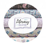 Books are Magic in Charcoal - Literary Collection - Camelot Fabrics